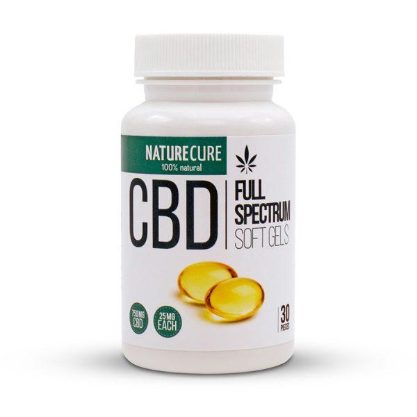 Nature Cure CBD Soft Gels 750 Mg