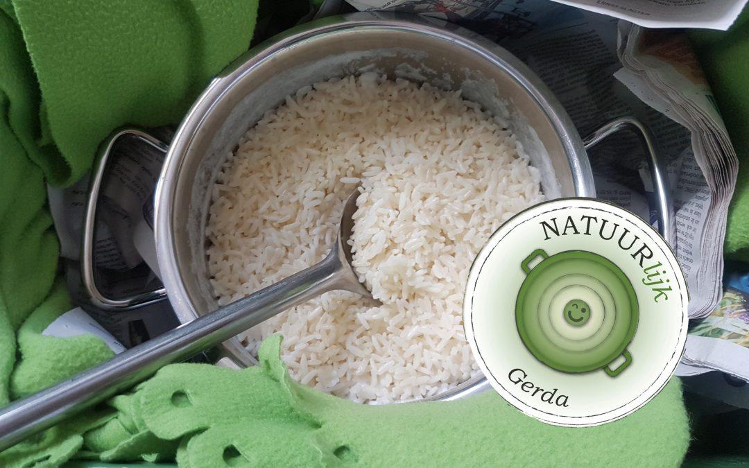 Gerda's rijstebrij uit de hooikist