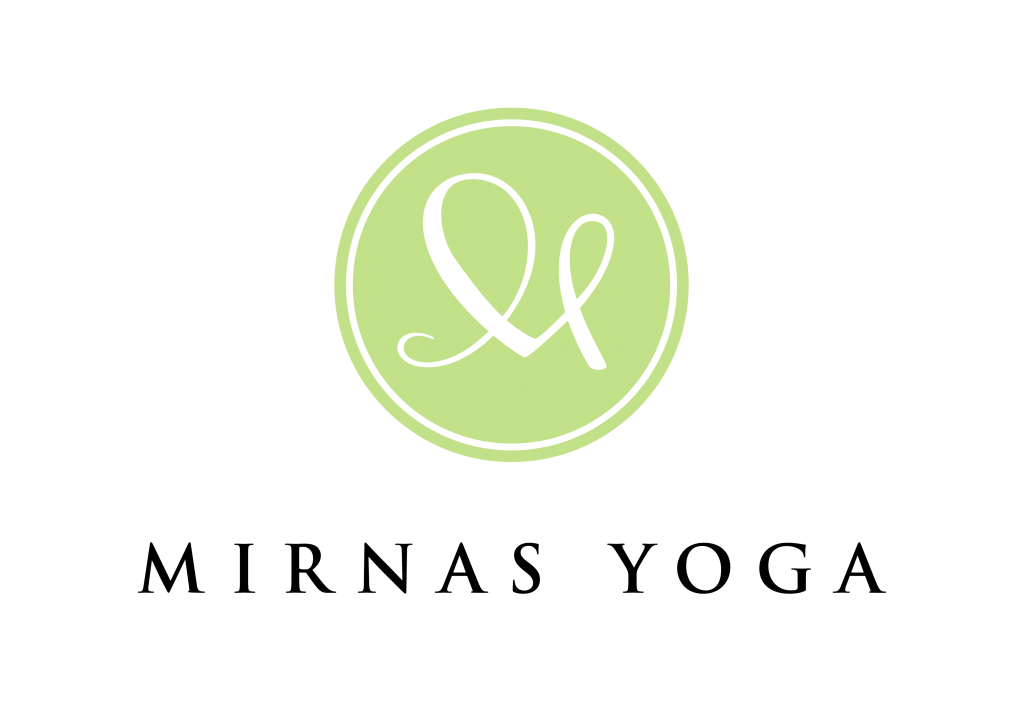 Logotyp för Mirnas Yoga, Naula Design