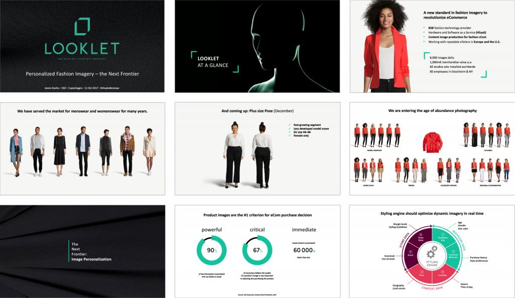 Tidigare case med presentation för Looklet, PowerPoint
