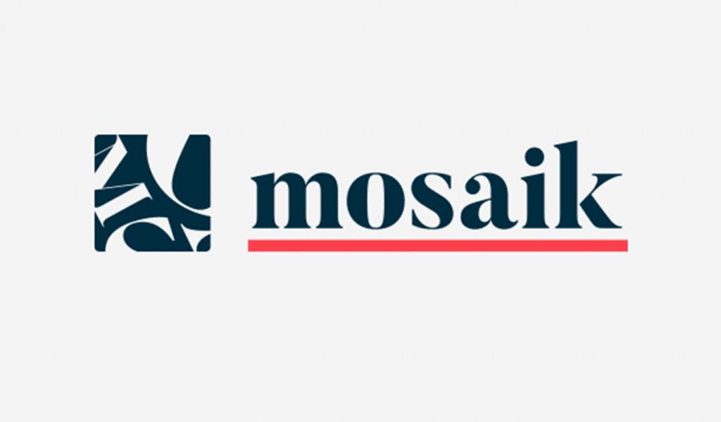 Logotyp för Mosaik, frilansande grafisk formgivare Emil Naula