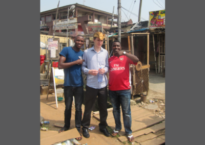 Willem-Th Arendsen at the streets of Lagos, Nigeria