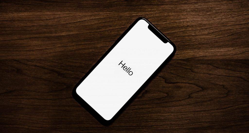 iphone hello bildschirm