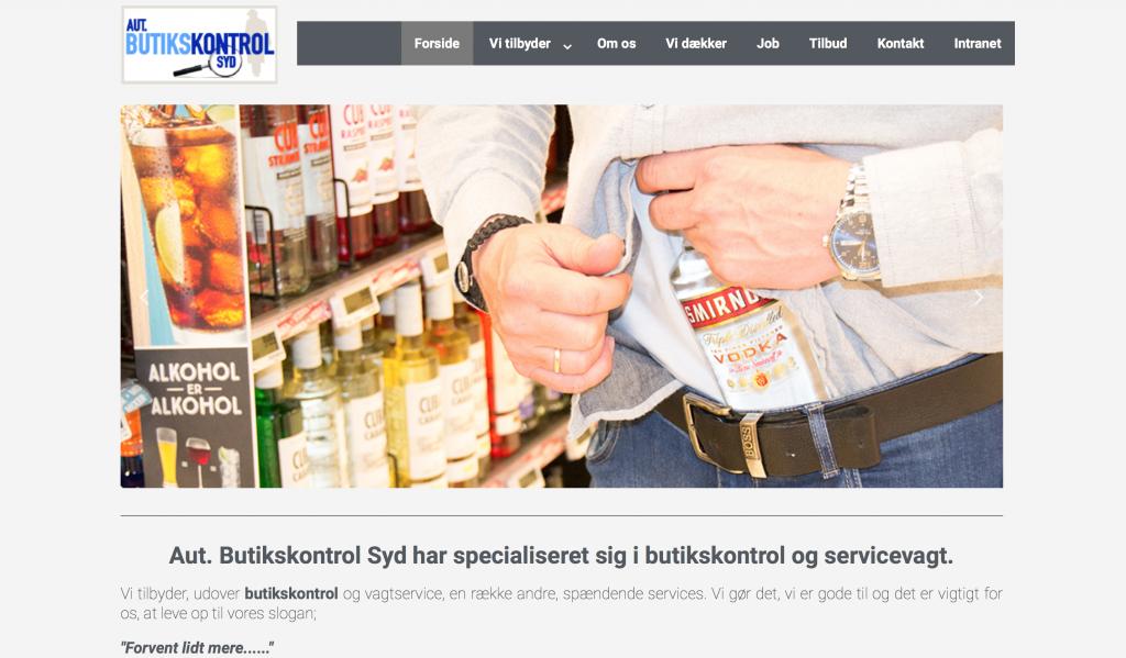 Hjemmeside butikskontrol