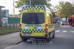 Mand fastklemt under fjernvarmerør - 15. august 2018 Billund