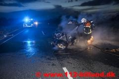 Færdselsuheld på Rute 28 Grindstedvej mellem Billund og Løvlund