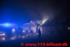 Gårdbrand - Nørbovej ved Grindsted - 26.oktober 2017