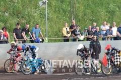 Starten til første heat gav en omstart til alle fire kørere - Foto: René Lind Gammelmark