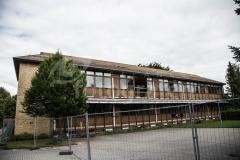 Nedbrydning af Nordre Skole Gul bygning Grindsted 27-08-2017