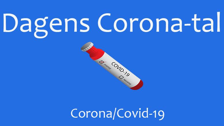 Coronatallene for lørdag den 31. juli 2021
