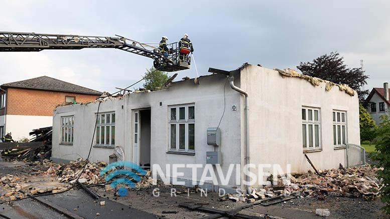 Brand i hus på Østergade i Vorbasse