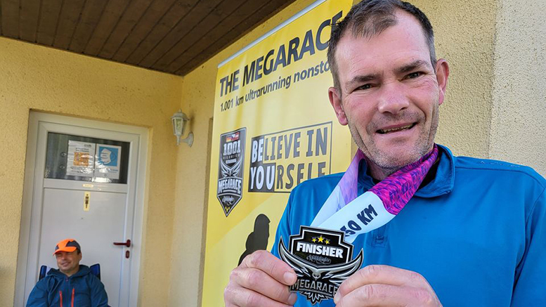 Per Hansen fik bronzemedalje for 550 km løb