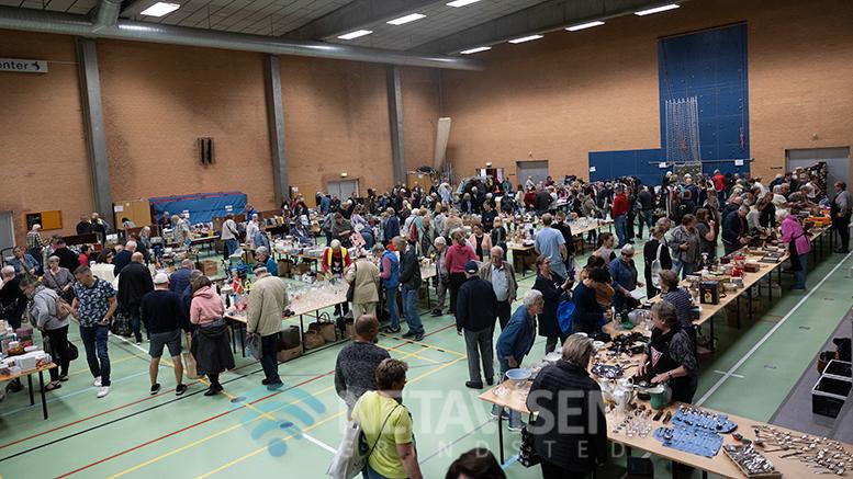 Der blev solgt for ca.134.000 kr til lørdagens loppemarked i Billlund