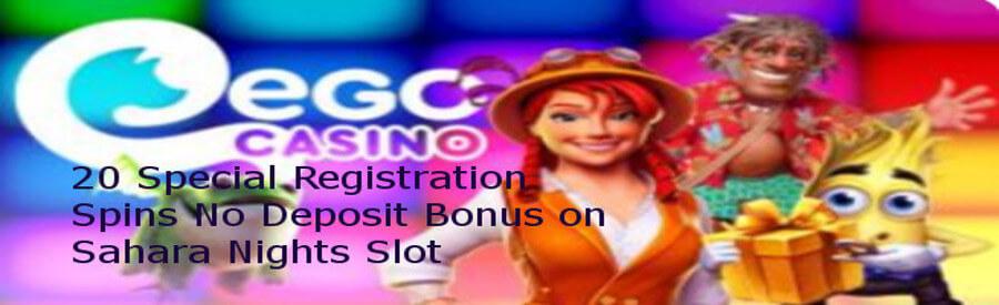 20 Free Spins on registration