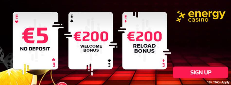 Energy casino: bonus code