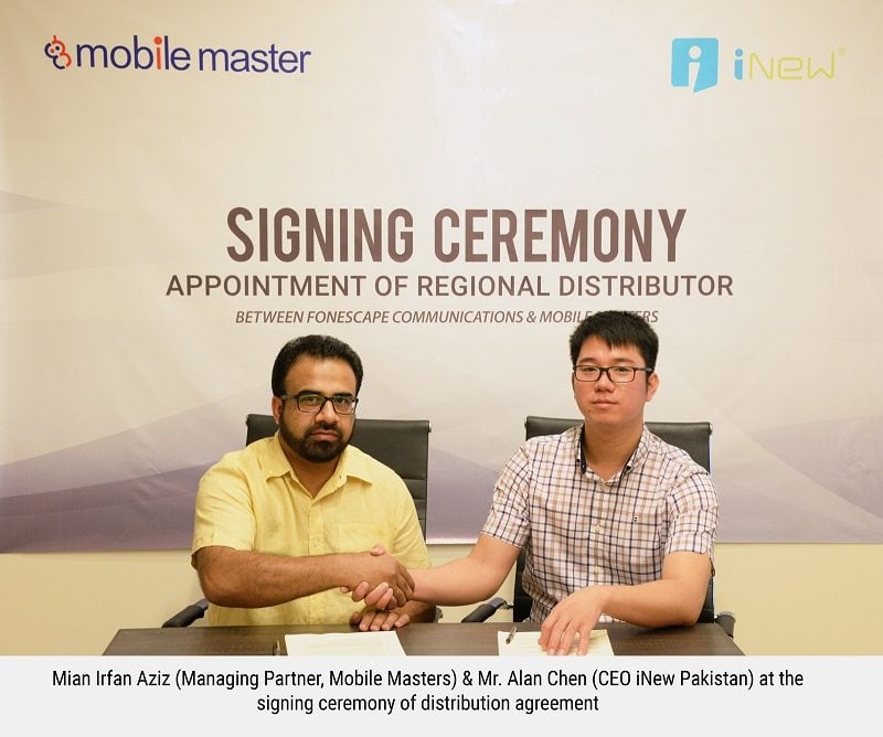 iNew Pakistan Signs Regional Distribution Agreement with Mobile Masters