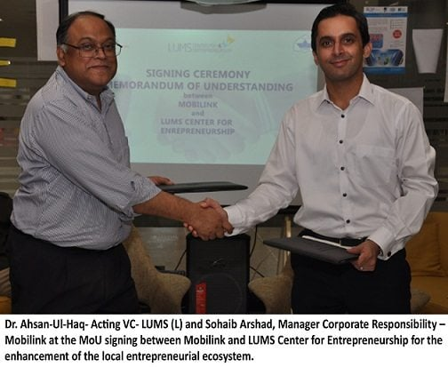 Mobilink partners with LUMS to enhance entrepreneurial eco-system