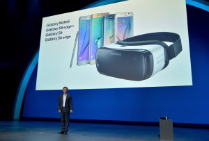 Samsung Gear VR at Oculus Connect 2 Developers Conference 2015 at Loews Hollywood Hotel on September 24, 2015 in Hollywood, California.