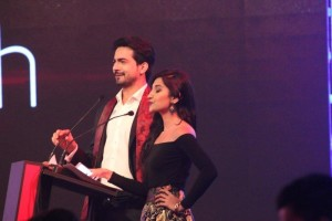Ali Safina hosting the event with his beautiful wife, Hira Tareen