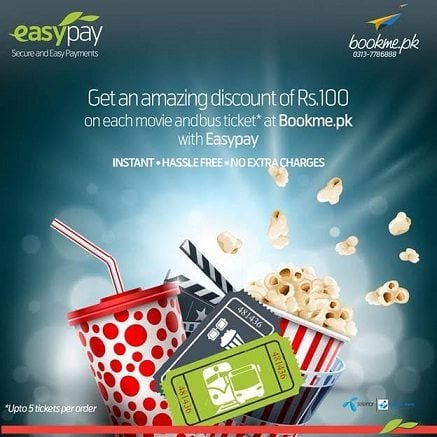 Easypaisa partners with Bookme.pk to make online Movie and Bus ticket