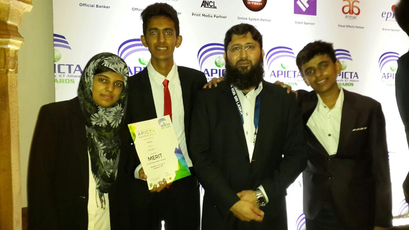 Pakistani IT team wins merit position in APICTA Awards held in Sri-Lanka