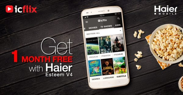 ICFLIX PREINSTALLED ON ALL HIGH END SMARTPHONES OF HAIER