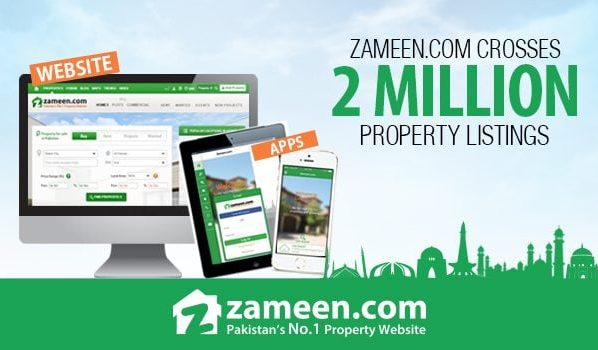Zameen.com database exceeds 2 million property listings