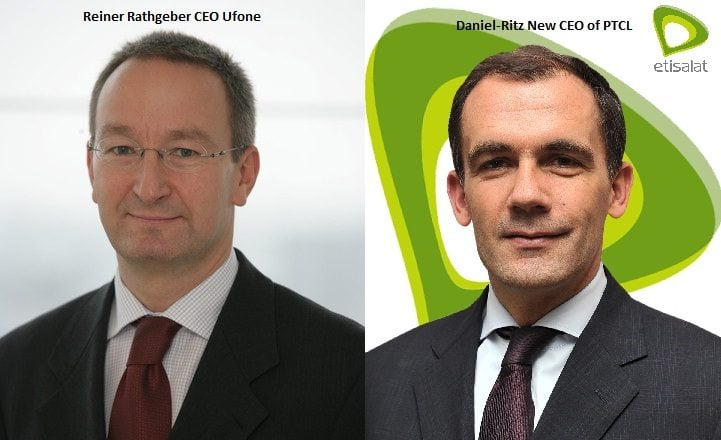 New CEO's for PTCL and Ufone cellular subsidiaries in Pakistan