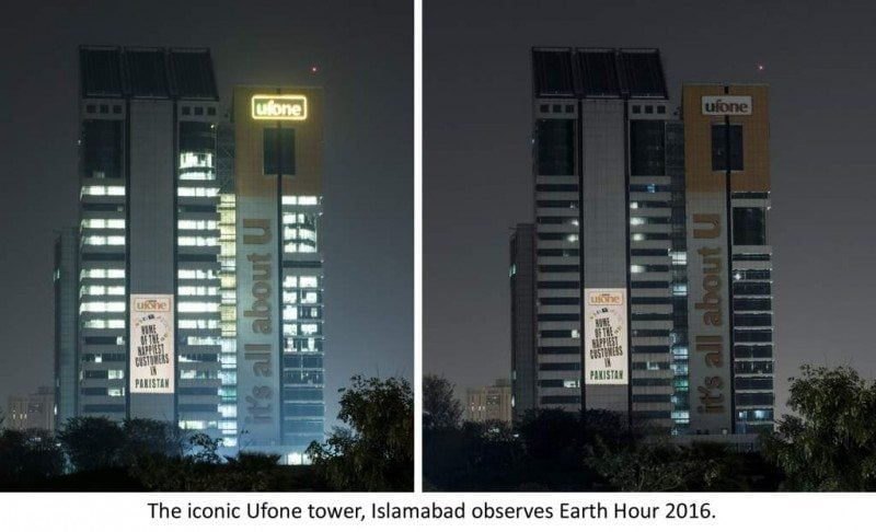 UFONE PLEDGES TO SUPPORT EARTH HOUR 2016