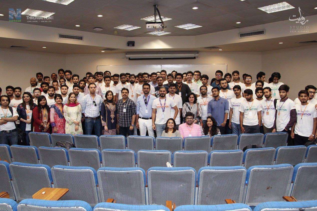 Netsol Technologies conducted its 2nd Throw-A-Thon, a hackathon in Lahore University of Management Sciences (LUMS), from 3rd June to 5th June, 2016.