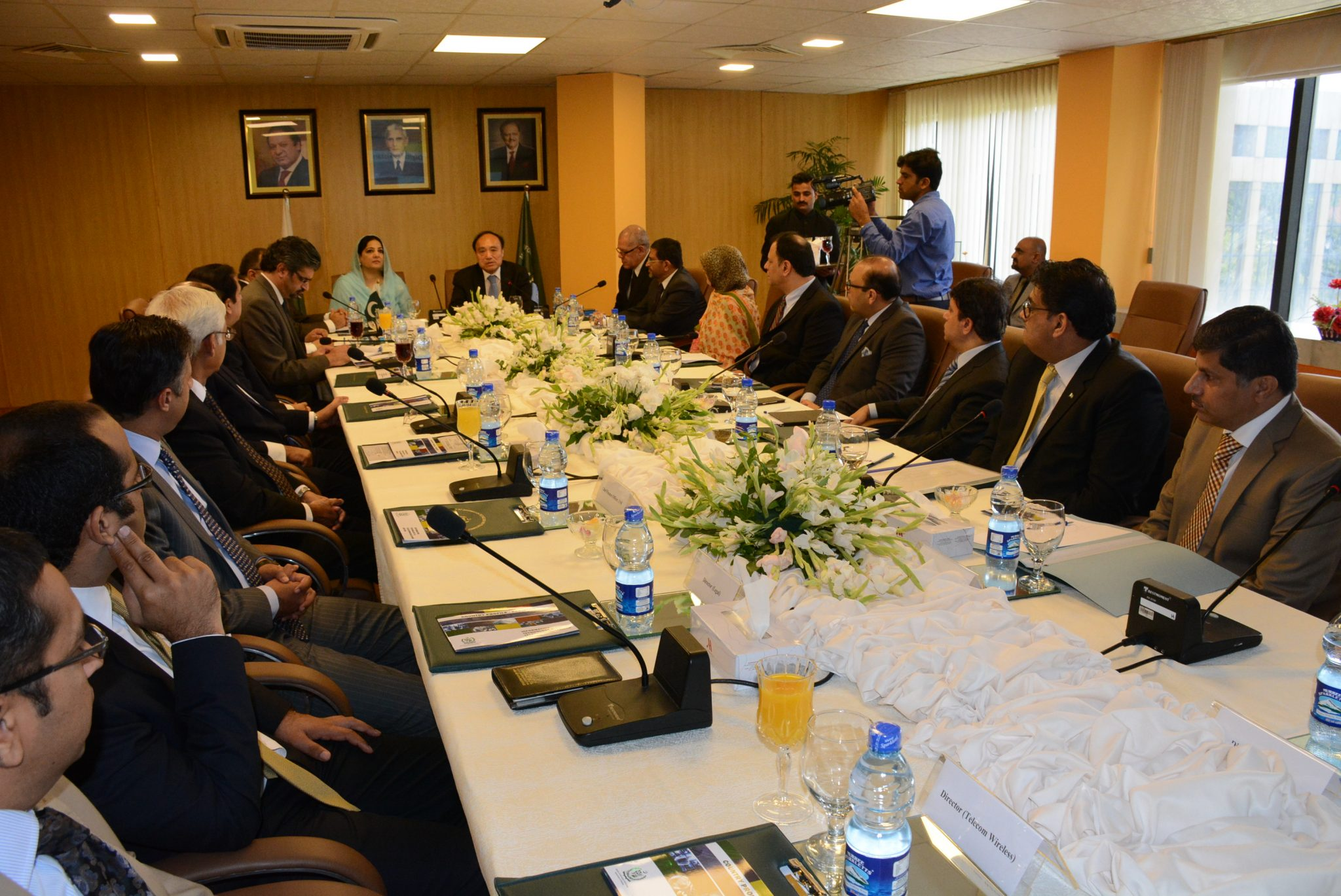 Minister of State for IT Mrs. Anusha Rahman with Secretary General ITU Mr. Houlin Zhao chairing briefing session at Moitt today here in Islamabad dated 18th July, 2016