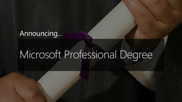 Microsoft Professional Certification now Offers Degree Program