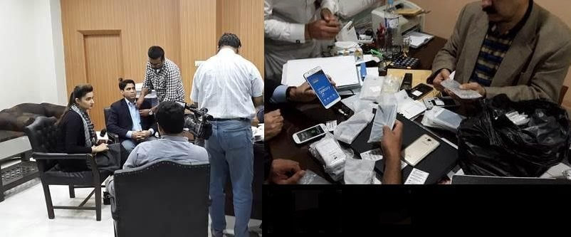 "Law Enforcement agency with Checkers raiding team conducted a very successful and intensive raid on ""Al-Najeebi Mobile Market"" at Abdullah Haroon Road, Saddar-Karachi"