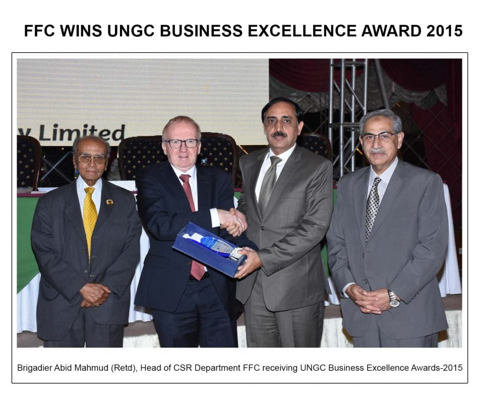 FFC wins UNGC Business Excellence Award 2015
