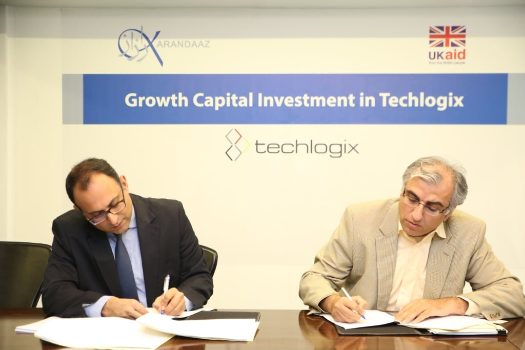 Karandaaz Pakistan has signed an agreement with Techlogix to invest USD 1.5million in the company with the vision to scale three new cloud-based