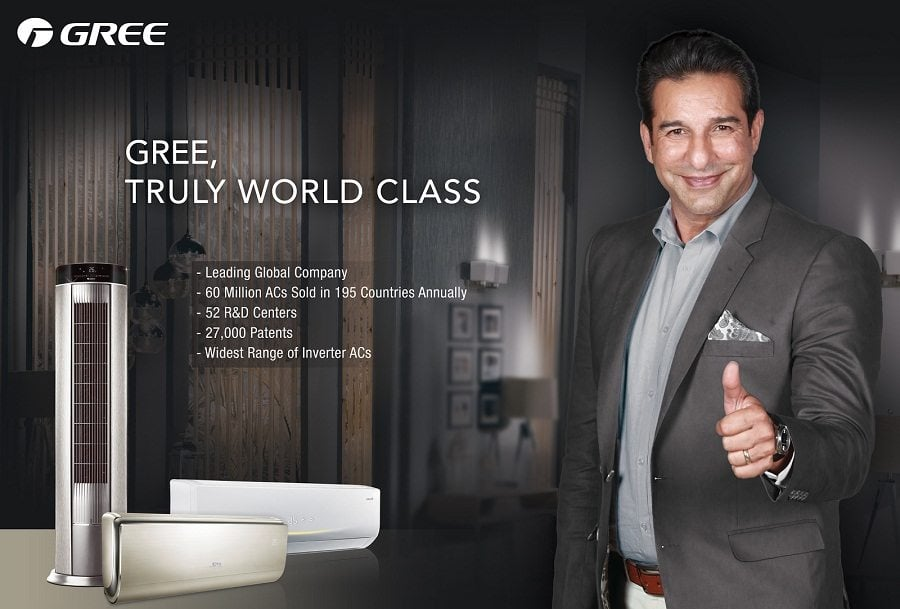 GREE – the global number 1 leading enterprise of air-conditioners has launched its new 'Summer 2017' Campaign, with Waseem Akram as its brand ambassador.