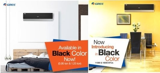GREE goes out-of-the-way to meet the expectations of its customers, whilst delivering excellence. The black glossy textured finish of the indoor