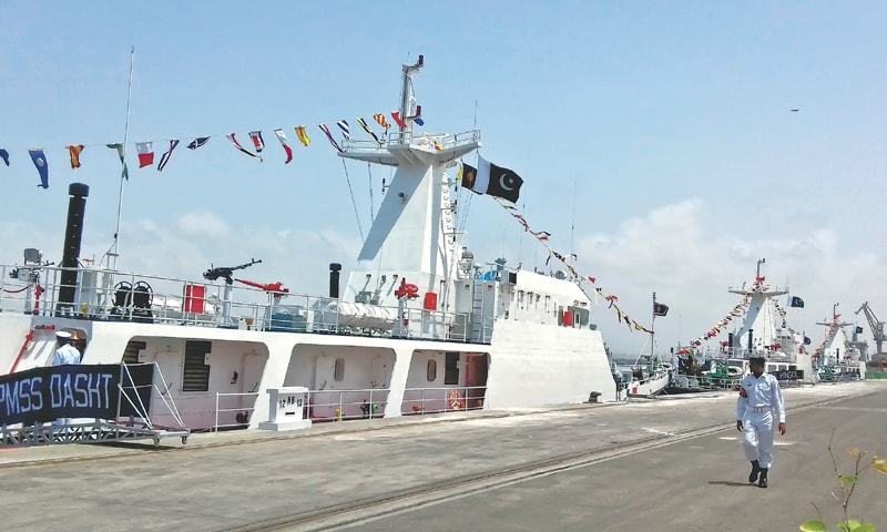 PMSS Dasht has been inducted as the third Chinese -built maritime patrol ship for the security concerns of the China -Pakistan Economic Corridor. PMSS
