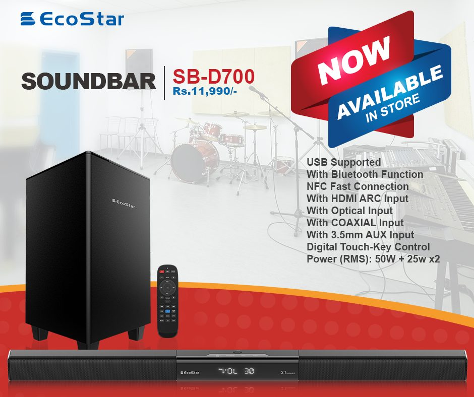 EcoStar is a nationwide brand of electronics which defines technological excellence in terms of its products. EcoStar recently launched its Sound Bar System
