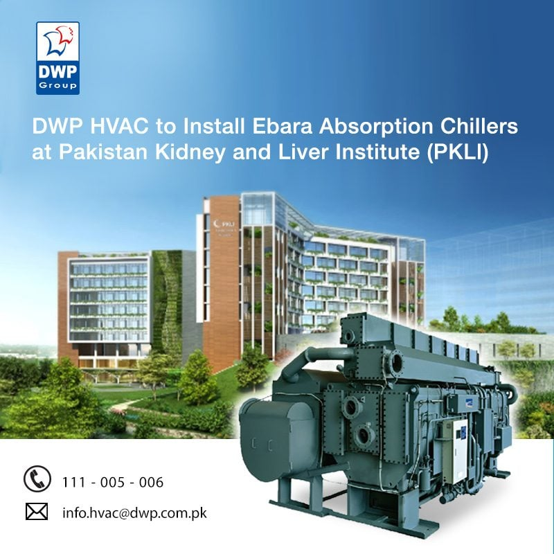 DWP HVAC Division has a history of doing such beneficial projects in Lahore including; DHA Raya Golf Club, Shalimar Hospital, Bahria Orchard Hospital