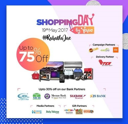 Yayvo.com along with other e-commerce partners have taken the initiative to celebrate Pakistan's Own Online Shopping Day on 19th May 2017. It's going to be