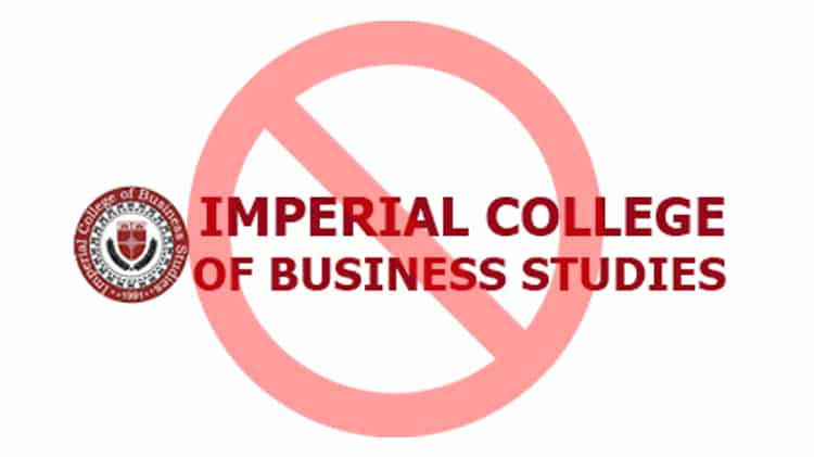 Higher Education Commission (HEC) has decided to ban Imperial College of Business Studies, Lahore. The decision has been taken after HEC observed
