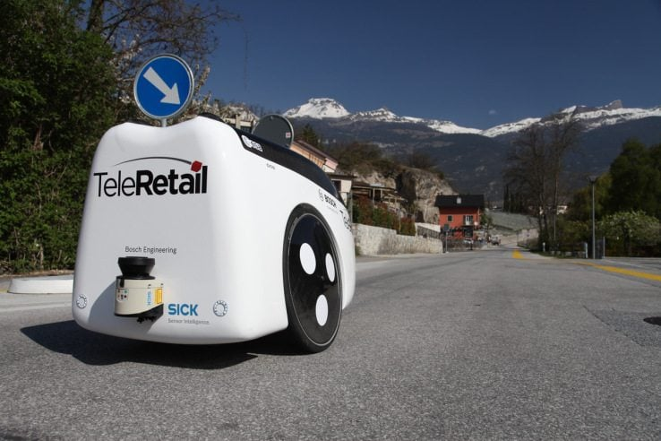Teleretail employs the system which has employed its peers and competitors -like Startship Technologies and Marble -for self driving cars. Sensors, computer