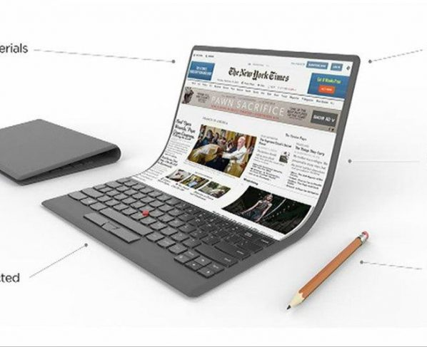 Folding laptop concept unveiled by Lenovo