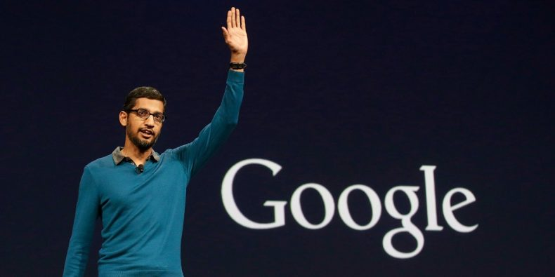 """""""Google CEO Cancels meeting on gender diversity as the issue went viral"""" is locked Google CEO Cancels meeting on gender diversity as the issue went viral"""