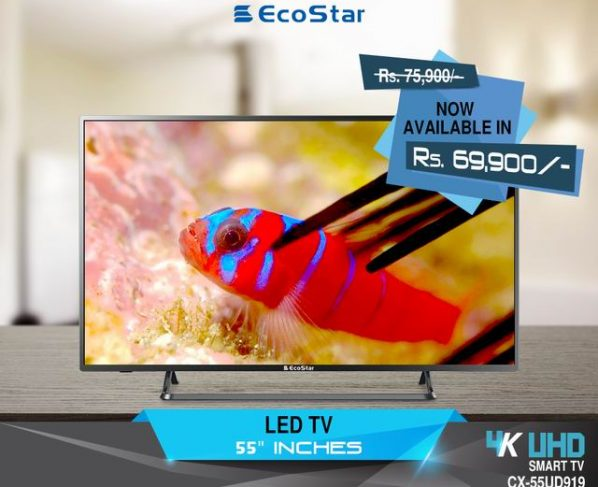 EcoStar announces discounted prices for 4K UHD LEDs