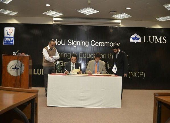 DWP Group and LUMS Signed MoU for National Outreach Program