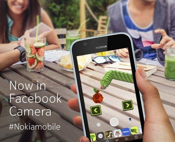 Nokia classic, Snake, comes to Facebook's new camera AR platform