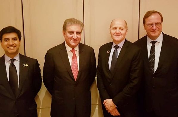 Telenor Group President & CEO Sigve Brekke meets Foreign Minister Shah Mehmood Qureshi in New York