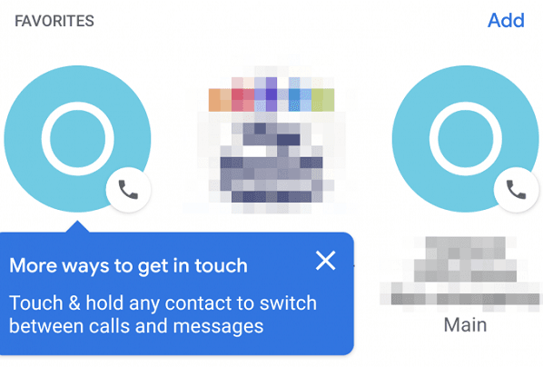 Google is rolling out the three-column Favorites UI for its phone